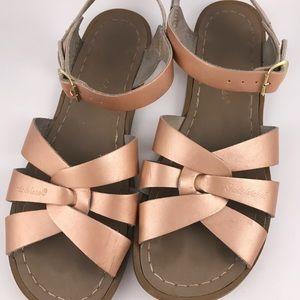 Salt Water Leather Sandal Rose Gold 6